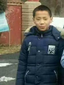 寻找银川13岁男孩海伟 2017年12月25宁夏大学走失