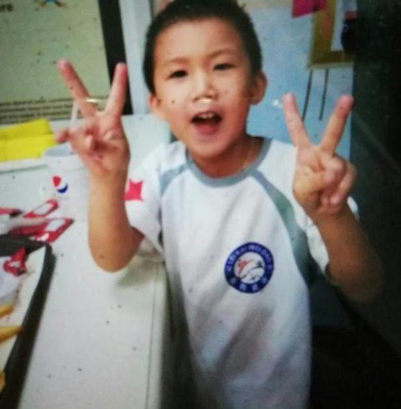 急寻广东5岁男孩陈凯文身穿白色跆拳道衣服,灰白色短裤走失
